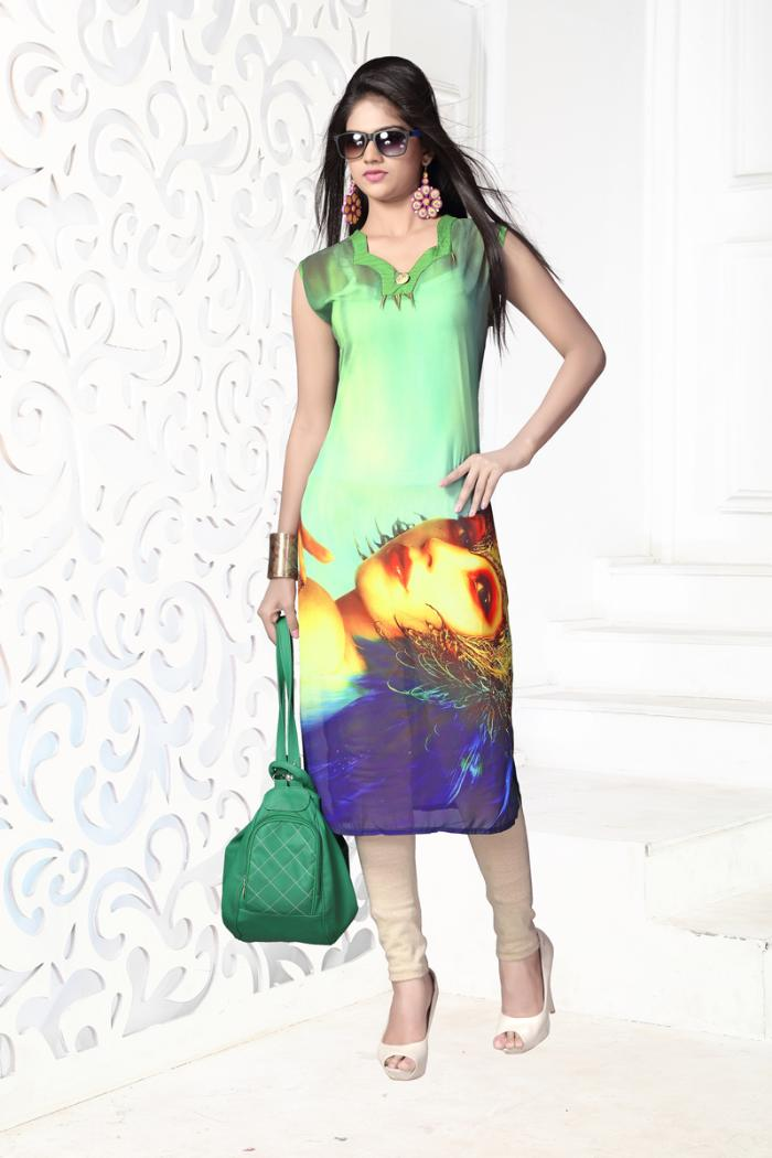 digital-3 party wear kurti