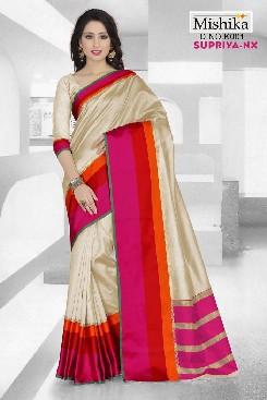venisa supriya-nx cotton  saree with satin border patta