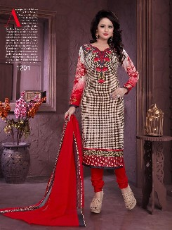 chitra cotton party wear printed salwar kameez