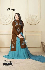 your choice celebrity-2 jama glass cotton bollywood suits with heavy emboridery