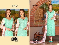 your choice dinnar-17 pure chiffon salwar kameez with printed & heavy emboridery