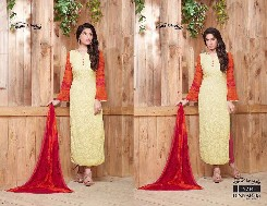 your choice dinnar-18 pure chiffon bollywood suits with heavy emboridery