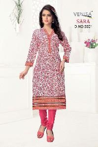 venisa sara party wear cotton kurti printed