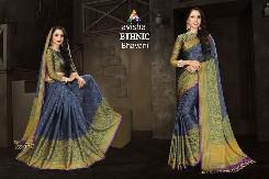 avisha ethnic party wear cotton silk saree with digital printed