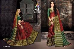 avisha-sahibaa-party-wear-handloom-cotton-silk-with-digital-printed