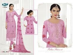 simran pure cambric cotton salwar kameez with nack emboridery