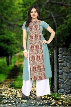 sunita casual wear american crepe kurti with digital print