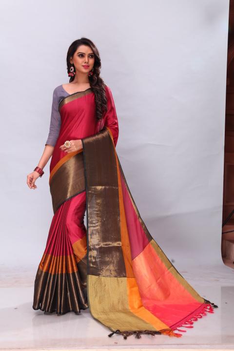 2ccb0c3d47 AVISHA MAMTA (Maushmi). Big Image. avisha mamta party wear cotton silk saree  with handloom work