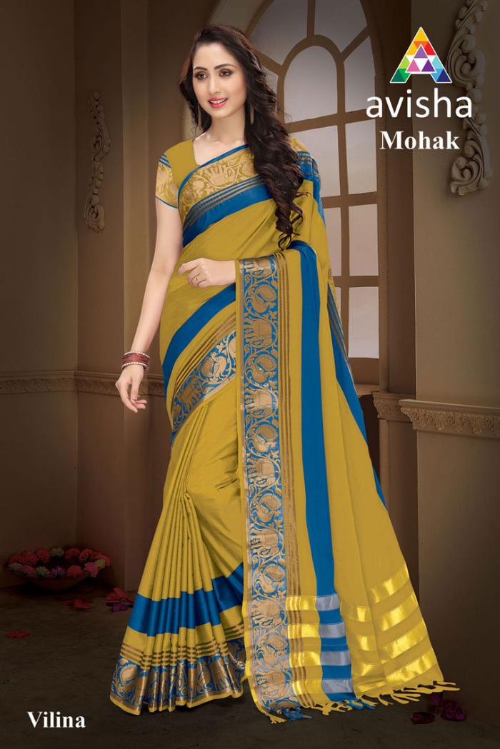 b91a453ef6 AVISHA MOHAK (Vilina). Big Image. avisha mohak party wear handloom cotton  silk saree