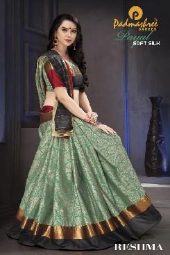 padmashree payal party wear soft silk saree with handloom cotton print