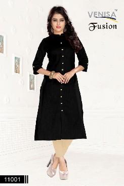 venisa-fusion-party-wear-cotton-linen-kurti