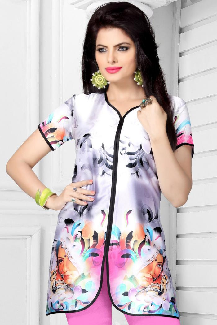 classic tops georgette printed online