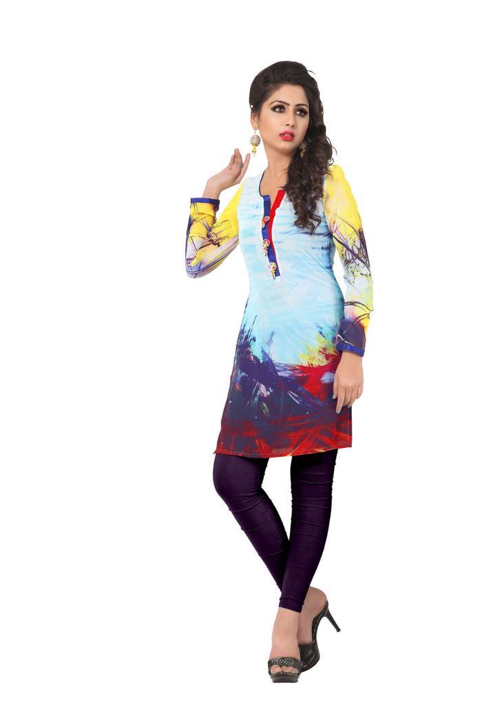 buy ashiqa weightless georgette kurtis wholesale