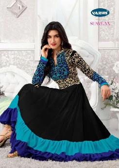 varun suvi georgette semi stitched anarkali dress collection