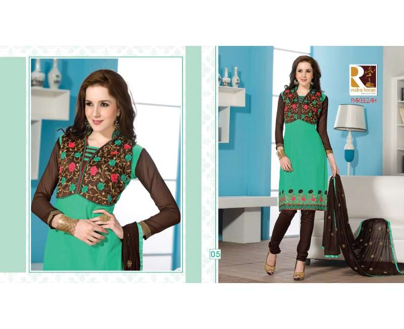 pakeezah cotton nazneen un-stitched materials suits