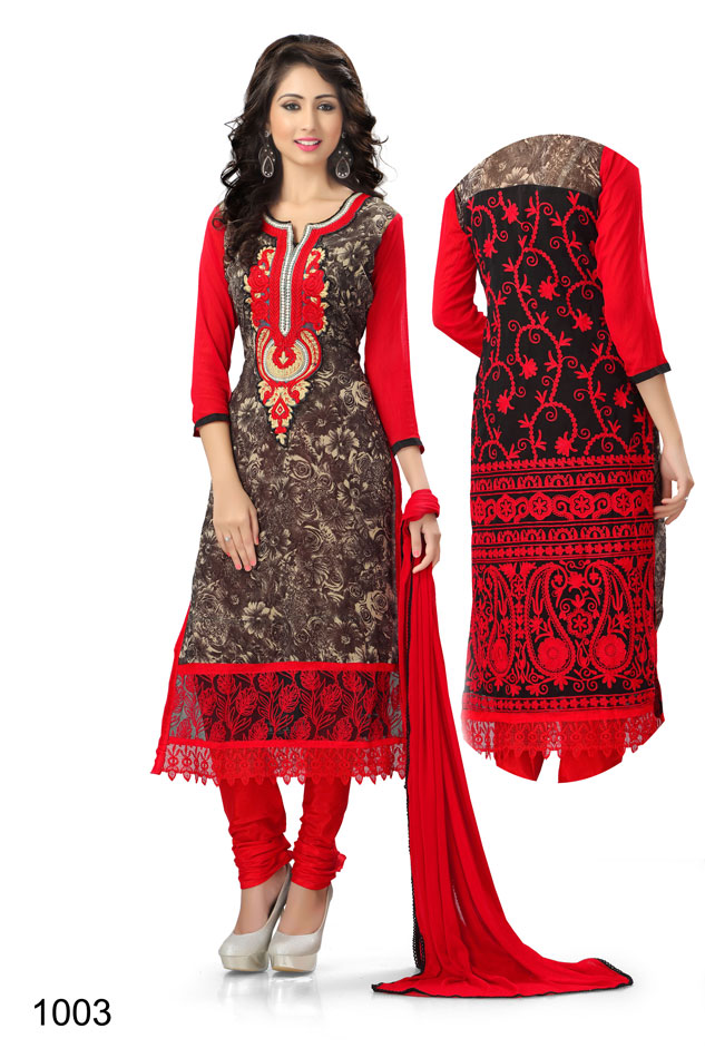 venisa hiba georgette jute silk semi stitched salwar suits