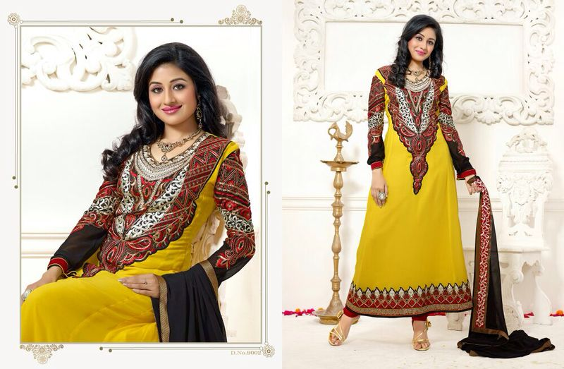 jodha akbar georgette party wear salwar suits