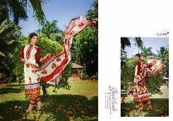 d-light pakistani lawn cotton salwar kameez with printed and heavy emboridery